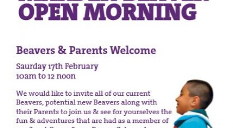 Beaver Open Morning – Saturday 17th February